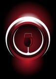 Ποτήρι του κόκκινου κρασιού διανυσματική απεικόνιση