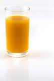 Ποτήρι του χυμού από πορτοκάλι που απομονώνεται στο λευκό Στοκ εικόνες με δικαίωμα ελεύθερης χρήσης