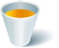 Ποτήρι του χυμού από πορτοκάλι διανυσματική απεικόνιση