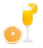 Ποτήρι του χυμού από πορτοκάλι Στοκ φωτογραφία με δικαίωμα ελεύθερης χρήσης