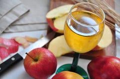 Ποτήρι του χυμού μήλων Στοκ εικόνα με δικαίωμα ελεύθερης χρήσης