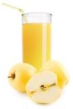 Ποτήρι του χυμού της Apple που απομονώνεται στο άσπρο υπόβαθρο Στοκ εικόνες με δικαίωμα ελεύθερης χρήσης