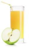 Ποτήρι του χυμού της Apple που απομονώνεται στο άσπρο υπόβαθρο Στοκ Φωτογραφίες
