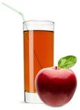Ποτήρι του χυμού της Apple που απομονώνεται στο άσπρο υπόβαθρο Στοκ Εικόνες