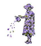 Ποτίζοντας λουλούδια Στοκ Εικόνα