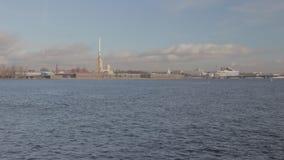 Ποταμός Άγιος Πετρούπολη Cinestyle Neva χρονικού σφάλματος απόθεμα βίντεο