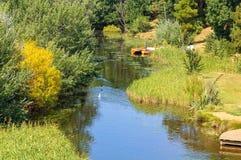 Ποταμός άνθρακα - Ρίτσμοντ στοκ εικόνα