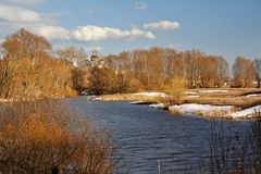 Ποταμός άνοιξη Στοκ Εικόνα