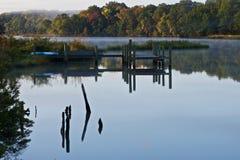 ποταμός αποβαθρών στοκ εικόνα με δικαίωμα ελεύθερης χρήσης