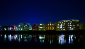 ποταμός αποβαθρών Στοκ Εικόνα