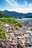 ποταμός Αυγούστου altai του 2006 katun Βουνό Altai, νότια Σιβηρία, Ρωσία στοκ φωτογραφίες