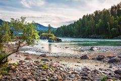 ποταμός Αυγούστου altai του 2006 katun Βουνό Altai, νότια Σιβηρία, Ρωσία στοκ φωτογραφία με δικαίωμα ελεύθερης χρήσης