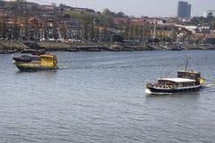 Ποταμός Βίλα Νόβα ντε Γκάια Πορτογαλία Douro Στοκ φωτογραφία με δικαίωμα ελεύθερης χρήσης