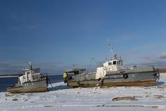 ποταμός βαρκών τραπεζών Στοκ Φωτογραφίες