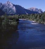 ποταμός βουνών Αλμπέρτα δύσκολος Στοκ φωτογραφίες με δικαίωμα ελεύθερης χρήσης
