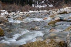Ποταμός βουνών ορμητικά σημείων ποταμού Στοκ εικόνα με δικαίωμα ελεύθερης χρήσης