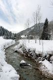 Ποταμός βουνών στο χειμώνα Στοκ Εικόνα
