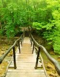ποταμός βουνών τεμαχίων που τρέχει τις μικρές πέτρες Στοκ φωτογραφία με δικαίωμα ελεύθερης χρήσης
