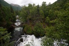 Ποταμός βουνών της Αλάσκας Στοκ Εικόνα