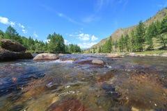 Ποταμός βουνών. Στοκ Εικόνα