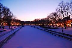 ποταμός βραδιού αύρας Στοκ Φωτογραφίες