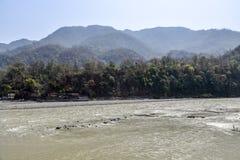 Ποταμός Γάγκης σε Rishikesh, Ινδία στοκ εικόνες