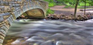 ποταμός γεφυρών hdr Στοκ Φωτογραφίες