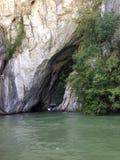 Ποταμός Δούναβης Ρουμανία σπηλιών όμορφη Στοκ εικόνα με δικαίωμα ελεύθερης χρήσης