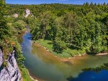 Ποταμός Δούναβη κοντά σε Inzigkofen Στοκ εικόνα με δικαίωμα ελεύθερης χρήσης