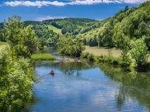 Ποταμός Δούναβη κοντά σε Thiergarten Στοκ Εικόνες