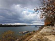 Ποταμός Δούναβη στην Ουγγαρία Στοκ Εικόνες