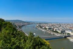 Ποταμός Δούναβη στη Βουδαπέστη Στοκ Φωτογραφίες