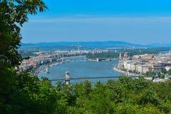 Ποταμός Δούναβη στη Βουδαπέστη Στοκ Εικόνες