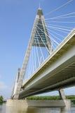 ποταμός Δούναβη 2 γεφυρών Στοκ Φωτογραφία