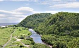 Ποταμός εκείνος ο ωκεανός disgorgesinto Στοκ φωτογραφία με δικαίωμα ελεύθερης χρήσης