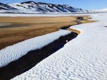 Ποταμός ζεστού νερού τομέων θείου Namaskard Στοκ φωτογραφίες με δικαίωμα ελεύθερης χρήσης