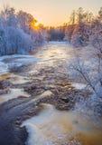 Ποταμός ηλιοβασιλέματος Στοκ Εικόνες
