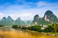 Ποταμός λι στην Κίνα στοκ εικόνες