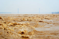 ποταμός κίτρινος Στοκ φωτογραφία με δικαίωμα ελεύθερης χρήσης