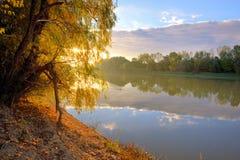 Ποταμός και ανατολή Siret Στοκ φωτογραφίες με δικαίωμα ελεύθερης χρήσης