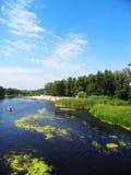 Ποταμός και καταμαράν Στοκ Φωτογραφία