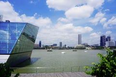 Ποταμός και ουρανοξύστες της Σιγκαπούρης Στοκ Φωτογραφία