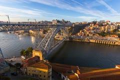 Ποταμός και DOM Luis Ι Douro γέφυρα, Πόρτο Στοκ φωτογραφίες με δικαίωμα ελεύθερης χρήσης