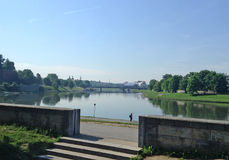 Ποταμός Κρακοβία, Πολωνία Vistula Στοκ εικόνες με δικαίωμα ελεύθερης χρήσης