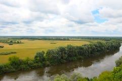 ποταμός λιβαδιών desna Στοκ Εικόνα