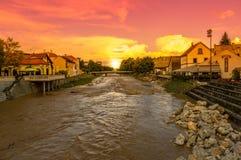 Ποταμός μετά από τη βροχή Στοκ εικόνα με δικαίωμα ελεύθερης χρήσης