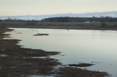 Ποταμός μετά από το ηλιοβασίλεμα Στοκ φωτογραφία με δικαίωμα ελεύθερης χρήσης
