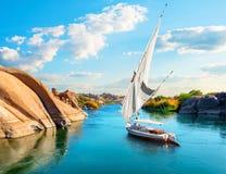 Ποταμός Νείλος σε Aswan στοκ φωτογραφία