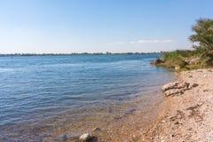 Ποταμός Νείλος κοντά σε Luxor στοκ εικόνα