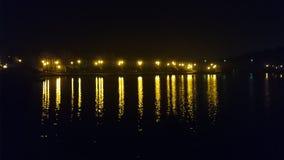 ποταμός νύχτας στην Πολωνία Στοκ Φωτογραφία